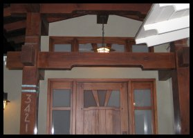 Greene & Greene #5 Entry system with transom